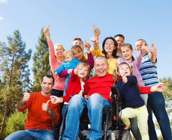 Photo of a disability support group